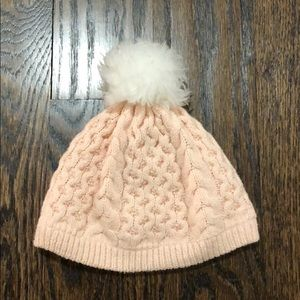 Janie and Jack pink winter hat